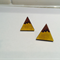 Mountain Range - Happy Sunshine Yellow earrings
