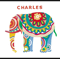 Personalised Elephant A3 Art Print - Free Shipping!