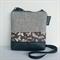 The Small 'Jodi'  handbag Black vinyl base with feature panel of butterflies
