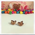 Woodland Dove Laser Cut Wooden Earrings
