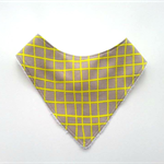 Lemon grid bandana bib