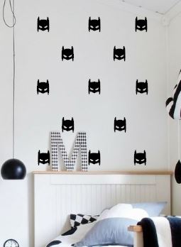 Super Hero Batman Wall Decal Masks  Removable Wall Art Stickers