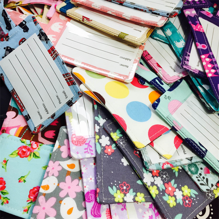 CREATE YOUR OWN Fabric Luggage Tag   Odds & Blobs on Madeit