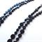 Black long gemstone polished onyx pair of necklaces