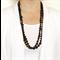 Black long gemstone onyx pair of necklaces by Sasha+Max studio
