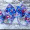 "3.5"" Frozen Bow Hair Ties"