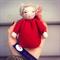 Poppy , red felt cushion doll  Seiner /Waldorf  inspired