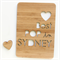 Custom Father's Day card laser cut bamboo wood Happy Fathers Day Australia