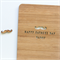 Father's Day card custom moustache laser cut bamboo wood Happy Fathers Day Dad