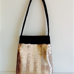 Peach chevron sequin purse