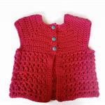 Baby cardigan crochet cardigan girl's baby shower newborn gift