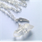 Clear Quartz Crystal Point Necklace with Wing Charm