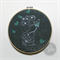 Pregnancy Wrap Scrap Embroidered Hoop Art- Hearts