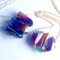 1 of 2 Titanium Quartz Triple Crystal Point Necklaces
