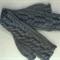 Grey -  fingerless mitts - Teen, adult, male, female