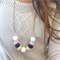 Facet Pastel - Faceted Clay Pod Necklace