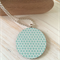 Wooden Papered Pendant
