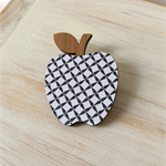Wooden Papered Brooch