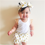 Gold Polka Dot Shorties Bloomers and Topknot - headwrap, baby, girl