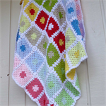colourful granny square blanket for all ages | baby shower gift | birthday gift