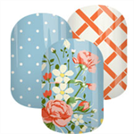 Cottage Blossom Blue Set Nail Wraps / Nail Decals / Nail Stickers