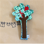 Geometric Pattern Tree Rattle with Kite - Baby Rattle
