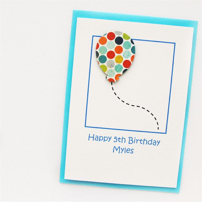 Any Age Birthday Card Personalised Children Kids Hearts Custom 1 2 3