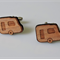 Fun Wood Caravan Cufflinks