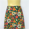 Ladies Retro Green Floral A Line Skirt - ladies sizes 8 & 16 avail - gold trim