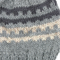 Boys Unisex Knitted Patterned Grey Wool Beanie. Size - Age: 4 5 6 7 8 9