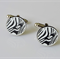 Fun Black and White Zebra Cufflinks