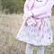 Falling Leaves Skirt Sizes 0, 1 + 2 Grey Pink Mustard
