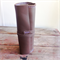 Chocolate brown leather Artist roll with purple stitching