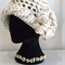 Variegated  Open Crown Crocheted Hat