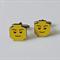 Fun Yellow Toy Head Man Cufflinks