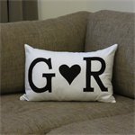Monogram Couple's Initial Cushion Cover - custom made in any colour & initials