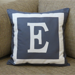 Personalised Monogram cushion cover - DK GREY-