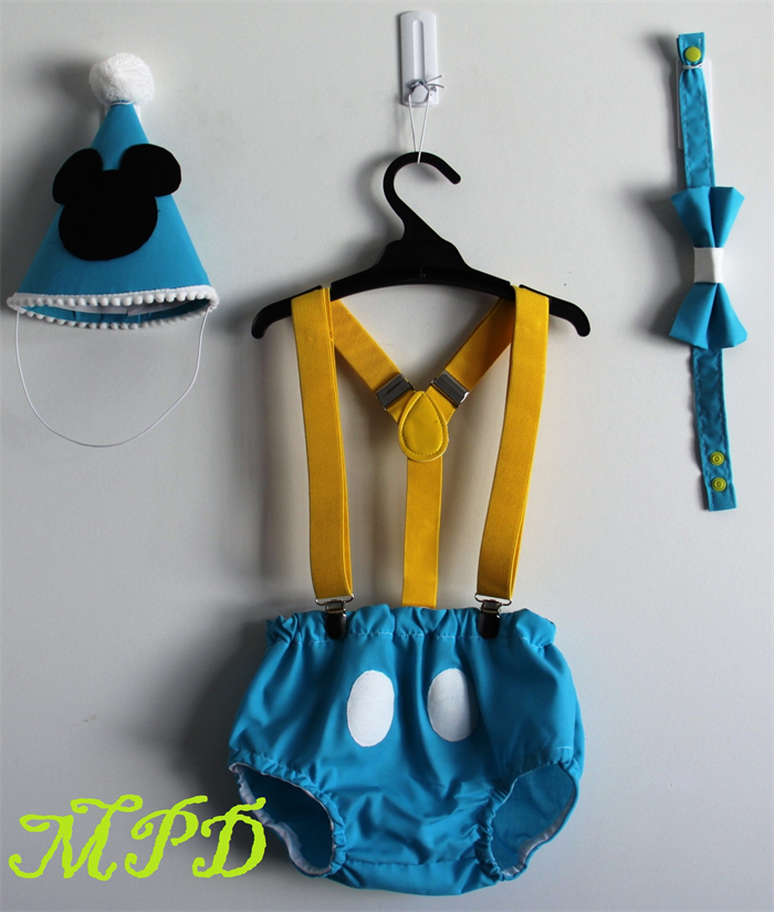 Baby Mickey Mouse Cake Smash 1st Birthday Outfit