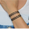 Vintage Double black tattoo bracelet
