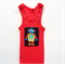 Bright Red Robot Singlet, Appliqued Singlets, Cotton, Size 00