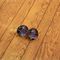 Purple flower Chiyogami glass tile stud earrings -surgical stainless steel posts