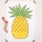 A4 Pineapple Illustration Print.