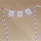 Cake Bunting / Topper - 1st Birthday ONE purple and pink
