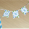Cake Bunting / Topper - 1st Birthday ONE blue and green