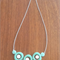 Mint & White Resin  Necklace