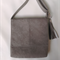 REDUCED Grey faux suede Messenger Cross Body Bag