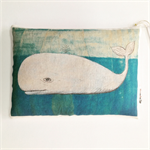 Whale Wheat Bag ORGANIC WHEAT - Art by Rondelle Douglas