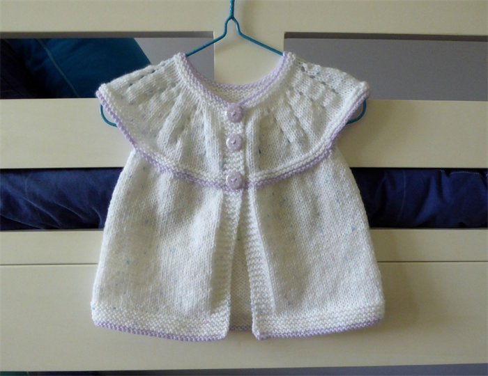 82d669115 Short sleeved baby cardigan - fit baby girl approx 6 months