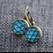 Blue Shell~  Lever Back Earrings