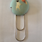 38mm Cute Pug Fabric Button Paperclip Bookmark